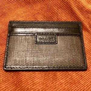 Coach leather cardholder NWOT